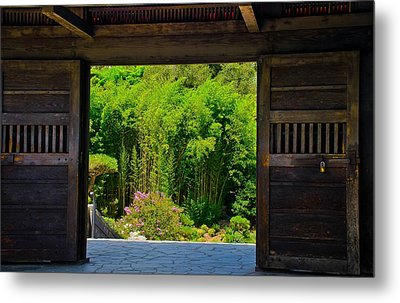 Metal Print featuring the photograph Doors To Garden by Joseph Hollingsworth