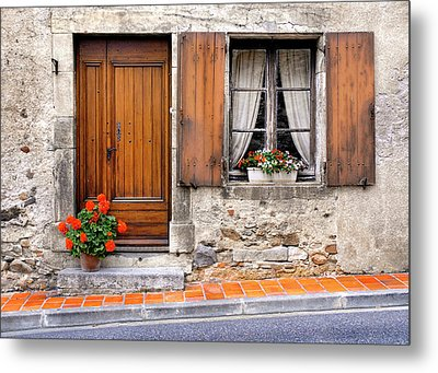 Metal Print featuring the photograph Doorway And Window In Provence France by Dave Mills