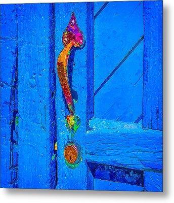 Doorway To Santa Fe Metal Print by Ken Stanback
