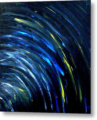 Metal Print featuring the painting Doppler by Monica Furlow