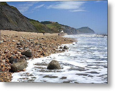 Metal Print featuring the photograph Dorset Coast by Shirley Mitchell