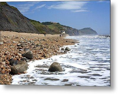 Dorset Coast Metal Print by Shirley Mitchell
