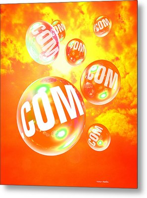 Dot Com Bubbles Metal Print by Victor Habbick Visions