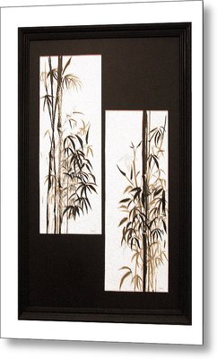 Metal Print featuring the painting Double Bamboo by Alethea McKee