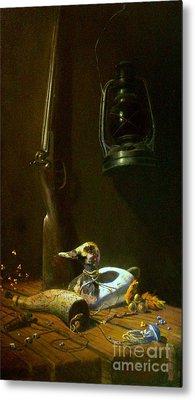 Double Hammer Duck Hunt Metal Print by Tom Jennerwein