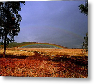 Double Rainbow Ridge Metal Print by Cindy Wright