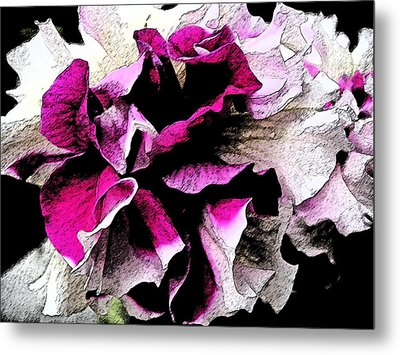 Double The Frill Metal Print by Yvonne Scott