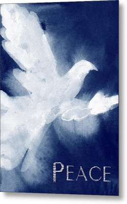 Dove Peace Holiday Card Metal Print by Beverly Brown
