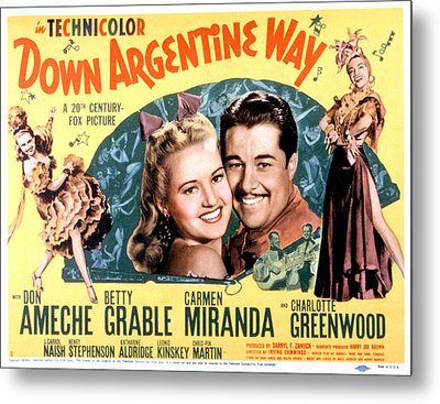 Down Argentine Way, Betty Grable, Don Metal Print by Everett