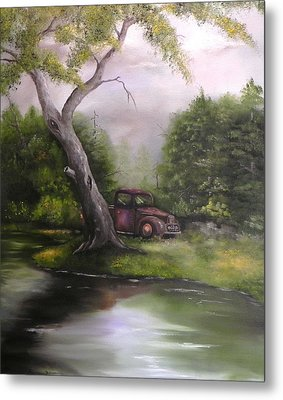 Down By The Lake Metal Print by Laura Brown