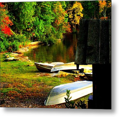 Down By The Riverside Metal Print by Karen Wiles