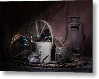 Down On The Farm Still Life Metal Print by Tom Mc Nemar