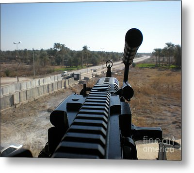 Down The Barrel Metal Print