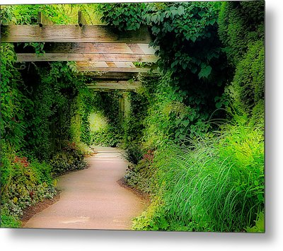 Down The Garden Path Metal Print by Blair Wainman