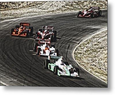 Down The Raceway Metal Print by Donna Blackhall