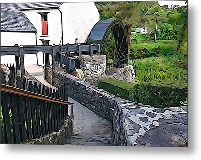 Metal Print featuring the photograph Down To The Mill by Charlie and Norma Brock