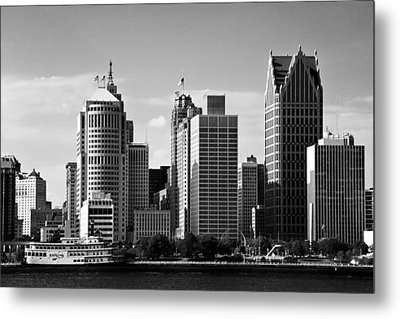 Downtown Detroit Metal Print by James Marvin Phelps