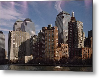 Downtown Financial District Metal Print by Justin Guariglia
