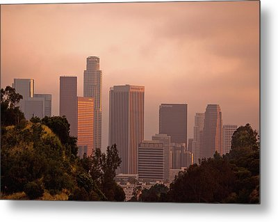 Downtown Los Angeles Metal Print by Andrew Kennelly