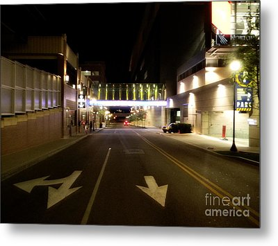 Downtown Louisville Street Metal Print by Utopia Concepts