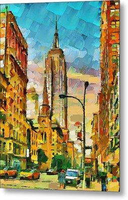 Downtown Manhattan Metal Print
