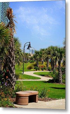 Metal Print featuring the photograph Downtown Myrtle Beach by Kathy Baccari