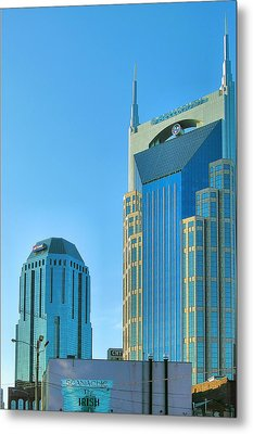 Downtown Nashville I Metal Print by Steven Ainsworth