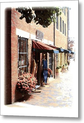 Downtown Newburyport Metal Print by Anthony Ross