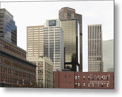 Downtown Office Buildings Metal Print by Roberto Westbrook