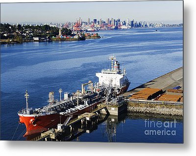 Downtown Vancouver Seen From Dockside Metal Print by Jeremy Woodhouse