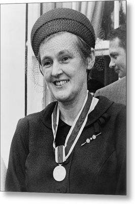 Dr. Frances O. Kelsey, Wearing Metal Print by Everett