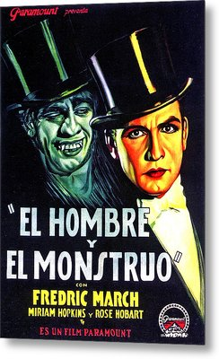 Dr. Jekyll And Mr. Hyde, Aka El Hombre Metal Print