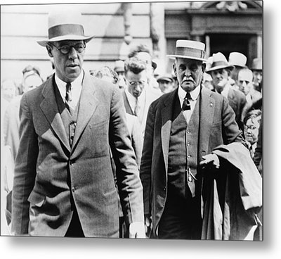 Dr. John F. Condon On Right Inserted Metal Print by Everett