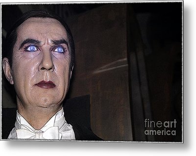 Dracula Cartoon Metal Print by Sophie Vigneault