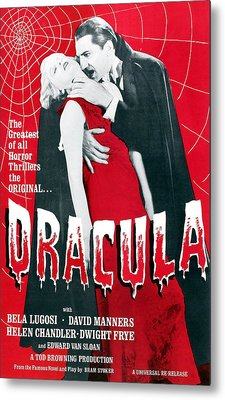 Dracula, From Left Frances Dade, Bela Metal Print by Everett