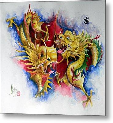 Dragon  Metal Print by Alan Kirkland-Roath