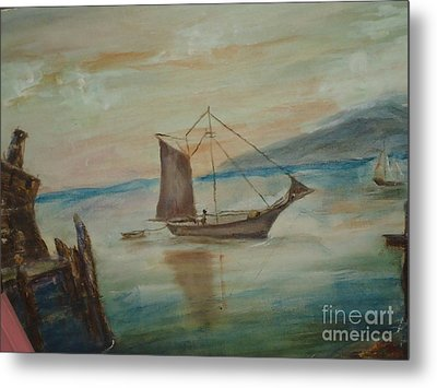 Dragon Boat Metal Print by Debbie Wassmann