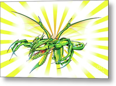 Dragon Metal Print by Brian Gibbs