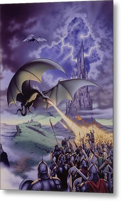 Dragon Combat Metal Print by The Dragon Chronicles - Steve Re