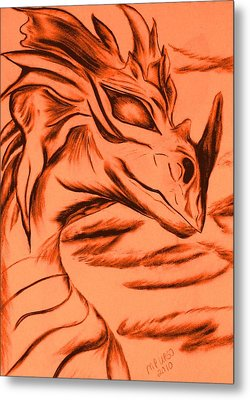 Dragon In Color Metal Print by Maria Urso