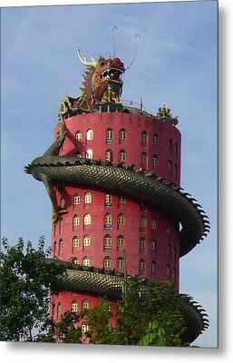 Dragon Temple Metal Print by Gregory Smith
