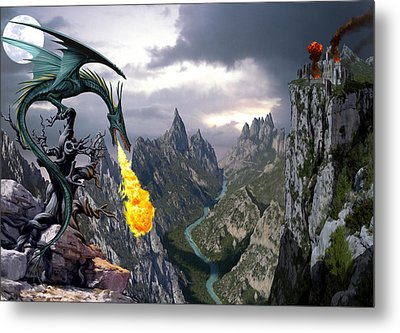 Dragon Valley Metal Print by The Dragon Chronicles - Garry Wa