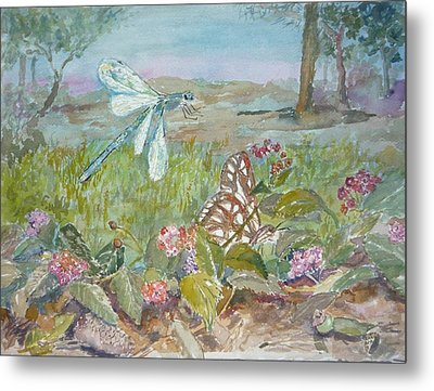 Dragonfly Metal Print by Dorothy Herron