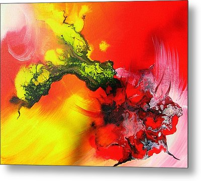 Dragon's Fire Metal Print by Mary Kay Holladay
