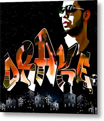 Drake 'watch Over The City' By Gbs Metal Print by Anibal Diaz