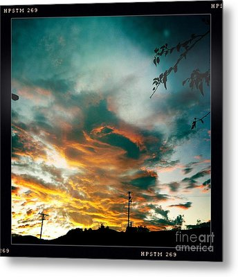 Metal Print featuring the photograph Drama In The Sky by Nina Prommer