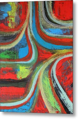 Metal Print featuring the painting Dream Highway by Everette McMahan jr