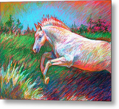 Metal Print featuring the painting Dream Horse by Nancy Tilles