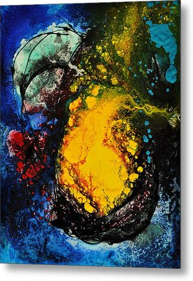 Metal Print featuring the painting Dream Seed by Christine Ricker Brandt