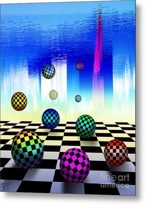 Metal Print featuring the digital art Dreaming Chess by Rosa Cobos